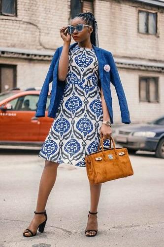 stylizacja z sukienka