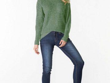 modny sweter damski zielony